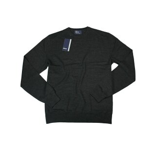 Fred Perry Feinstrick Pulllover K4501 112 Crew Neck Sweater Black Marl 7443