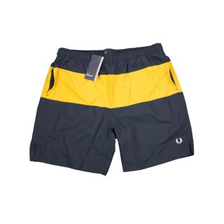 Fred Perry Herren Badehose Panelled Swimshort S3501 Bade Short Navy 7506