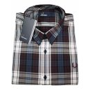 Fred Perry Button Down Langarmhemd M2567 799 Mahogany...