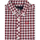 Fred Perry Kids Kinder Button Down Kurzarmhemd Rot...