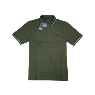 Fred Perry Herren Polo Shirt M12 408 Made In England Hunting Green Grün 7241