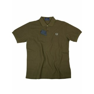 Fred Perry Herren Polo Shirt M3 103 Made In England Braun Hellblau Piquee 7109