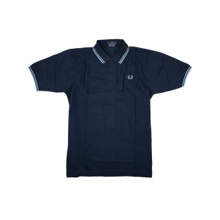 Fred Perry Polo Shirt M3264 795 Piquee Navy / Hellblau Made in England 5455