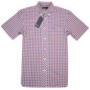 Fred Perry Herren Button Down Kurzarmhemd M9349 A77...