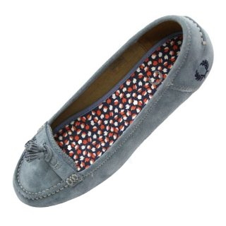 Fred Perry Ballerina Loafers B9065W Betty Suede Blau #5022