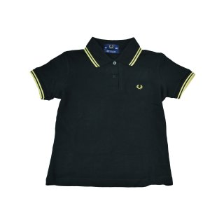 Fred Perry Damen Polo Schwarz Champagner Made in England J5801 157 6065