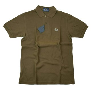 Fred Perry Herren Polo Shirt M12 Braun Hellblau Made In England Piquee 5779