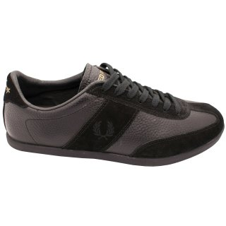 Fred Perry Schuh Turnschuh Sneaker B3026 102 Burghley Tumbled Schwarz 5788