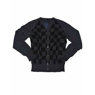 Fred Perry Strickweste Cardigan Schachbrettmuster K1109 947 5680