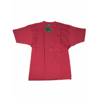 Fred Perry Herren T-Shirt M 6103 952 Rot Navy Stick Vintage 7018