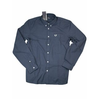 Fred Perry Button-Down Langarmhemd M3543 907 Bold Inky Blue Kariert 7343